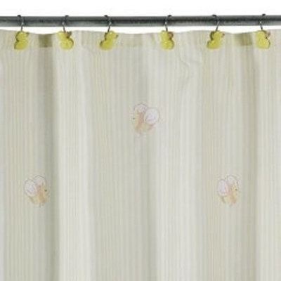 Tiddliwinks Duckie Stripe Shower Curtain