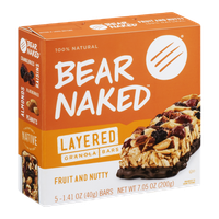 Bear Naked Layered Granola Bars Fruit and Nutty - 5 CT