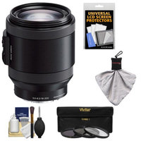 Sony Alpha E-Mount 18-200mm f/3.5-6.3 OSS PZ Lens with 3 Filters + Kit for A7, A7R, A7S, A3000, A5000, A5100, A6000 Cameras