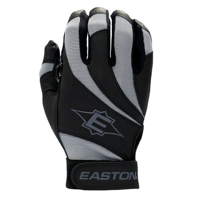 Cycle Products Co. Easton Reflex Batting Glove Youth Large Black/Gray - CYCLE PRODUCTS CO.