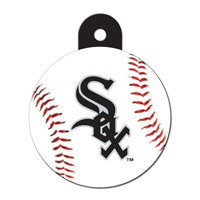 Quick-Tag Chicago White Sox Personalized Engraved Pet ID Tag, 1 1/4 W X 1 1/2 H