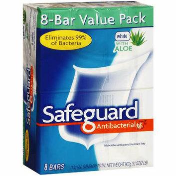 Safeguard Antibacterial Safeguard Bar Soap Antibacterial White Aloe 8 Bars