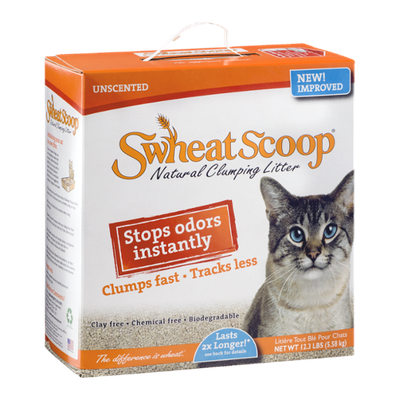 Swheat Scoop Natural Clumping Litter Unscented