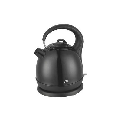 Sunpentown SK-1715B Stainless Cordless Kettle with Black Coating