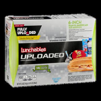 Lunchables Uploaded 6-Inch Ham & American Sub Sandwich