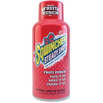 Sqwincher 200501FP 2 Oz. Fruit Punch Steady Shot Energy Drink (12 Pack)