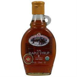 Shady Maple Farms Organic Grade a Dark Maple Syrup Glass