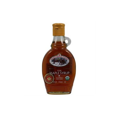 Shady Maple Farms Organic Grade a Dark Maple Syrup Glass