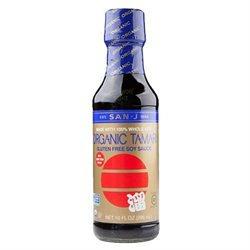 San-J 66564 Org Tamari Whole Soy Wheat Free Red Salt