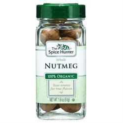 Spice Hunter B06357 Spice Hunter Nutmeg, Whole, Organic -6x1.8oz
