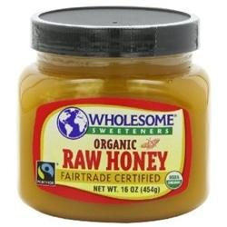 WHOLESOME SWEETNERS Organic Raw Honey Fair Trade 16 OZ