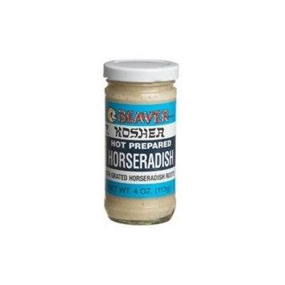 KeHe Distributors 2861 BEAVER HORSERADISH KSHR HOT - Case of 12 - 4 OZ