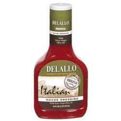 Delallo Italian House Dressing 16-Ounce Unit -Pack of 6