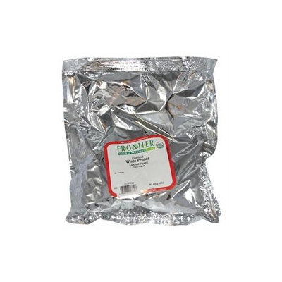 Frontier Pepper White Fine Grind Organic - 1 lb