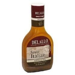 DeLallo B02722 Delallo Sweet Italian Dressing With Romano Cheese -6x16oz