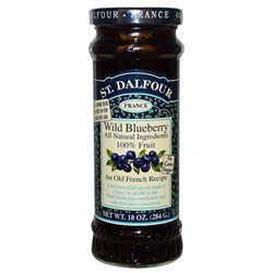 St. Dalfour All Natural Fruit Spread Wild Blueberry - 10 oz