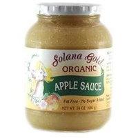 Solana Gold & Apple Solana Gold Organics BG18295 Solana Gold Organics Apple Sauce - 12x24OZ