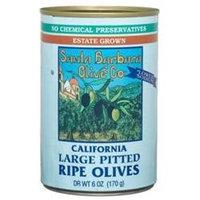 SANTA BARBARA OLIVES Black Large Pitted Olives 6 OZ