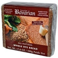 Bavarian Breads B34820 Bavarian Organic Whole Rye Bread -6x17.6oz