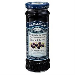 St. Dalfour All Natural Fruit Spread Black Cherry - 10 oz