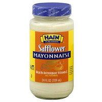 HAIN PURE FOODS Safflower Mayonnaise 124 OZ