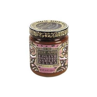 Desert Pepper Trading Co 62963 Desert Pepper Olive Roasted Garlic Salsa- 6x16 OZ