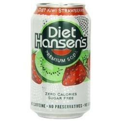 HANSEN'S Diet Kiwi Strawberry Can 12 OZ