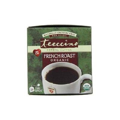 Teeccino Caffeine-Free Herbal Coffee, French Roast, 25 ct Tea Bags, 2