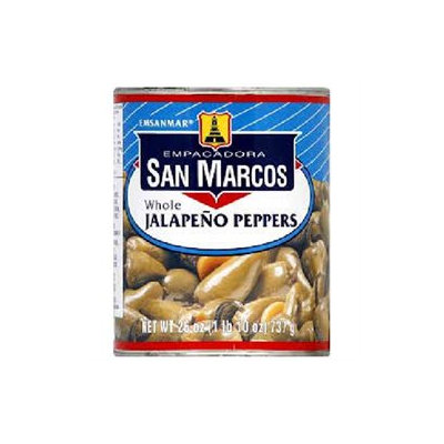 Empac San Marcos San Marcos Whole Jalapeno Peppers 26 Oz Pack Of 12