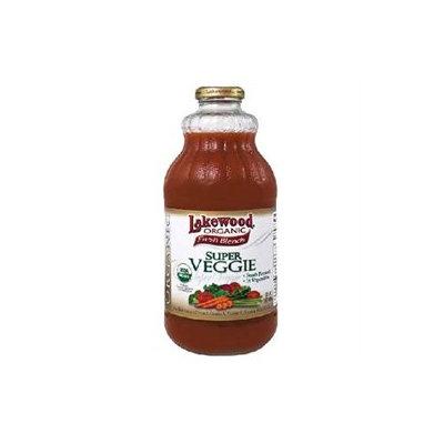 Lakewood Organic Super Veggie Juice 32 Ounce Pack of 12