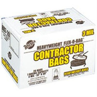 Warp Brothers Contractor Bags 20 Count- Black 42 Gallon - HBP42-20-HBP7-20