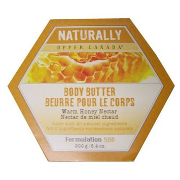 Upper Canada Soap Naturally Body Butter-Warm Honey Nectar-6.4, oz.