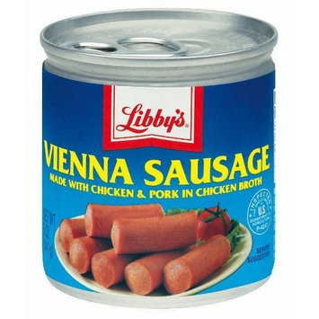 Libbys Libby's Vienna Sausages Made with Chicken, Beef, and Pork in Chicken Broth Eighteen 5 Ounce Cans