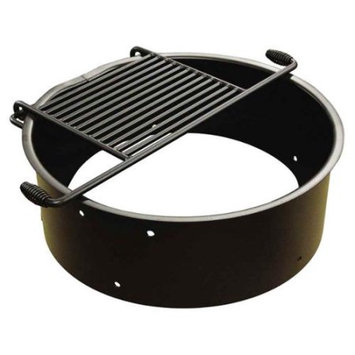 Leisure Craft 11 in. Flip Grate Fire Ring with Grill Handles