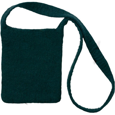 Feltworks Shoulder Bag 10 X7-1/4 X1 -Black