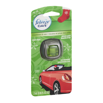 Febreze Car Vent Clips Air Freshener Meadows & Rain