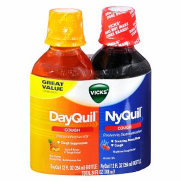 Vicks Dayquil Nyquil Cough Relief Combo Pack, Liquid, 2-12 oz Bottles, 2 ea