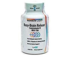 Rainbow Light Nutritional Systems Busy Brain Release, 60 Mini Tabs, Rainbow Light