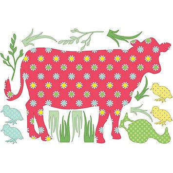 Brewster Wallcovering WallPops Wall Pops ZooWallogy Dakota The Cow - BREWSTER WALLCOVERING COMPANY