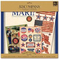 K & Company Military Scrap Kit 12x12 Layouts: Marines