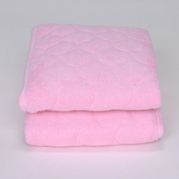 Royal Heritage Quilted Pink Terry Cloth Sheet Saver - Set of 2