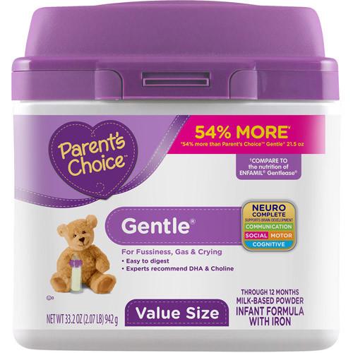 Parent's Choice Gentle Infant Formula with Iron, 33.2 oz