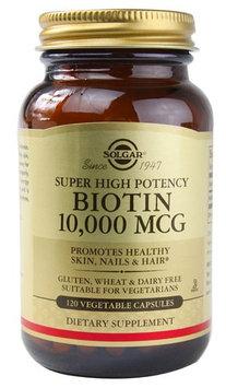 Solgar - Biotin Super High Potency 10000 mcg. - 120 Vegetarian Capsules