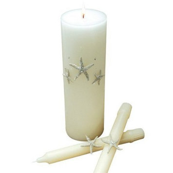 Cathy's Concepts Beach Unity Candle and Tapers - White
