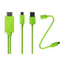 4XEM Micro USB To HDMI MHL Adapter Cable For Samsung Galaxy S2/S3/S4/Note(Green)
