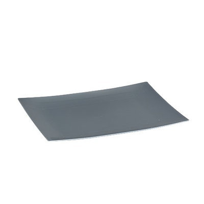 King Zak Ind Lillian Tablesettings 31870 Dinnerware 7.5 in. Silver Rectangular Plate - 120 Per Case