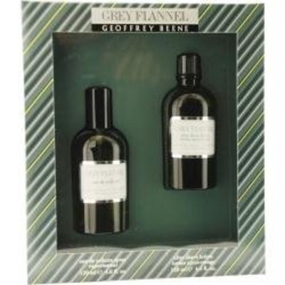 Geoffrey Beene GREY FLANNEL Men Gift Set Eau de Toilette 4oz Spray + 4oz Aftershave