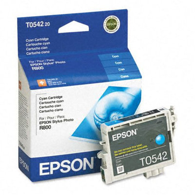 Epson T054220 UltraChrome Hi-Gloss Cyan Ink Cartridge