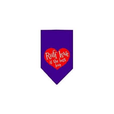 Ahi Ruff Love Screen Print Bandana Purple Small