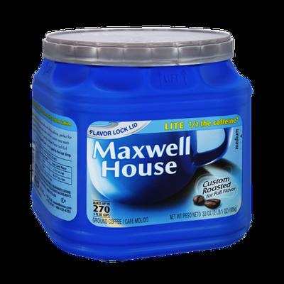 Maxwell House Lite Medium Roast Ground Coffee